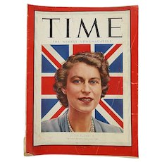 1952 TIME Magazine Queen Elizabeth Cover Story - Coke Ad 118 Pgs of News - Advertising