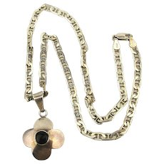 Vintage Mexican HOB 925 Sterling Silver Pendant Necklace
