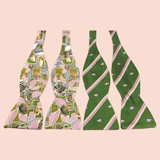 456b44810fdd Two Beau Ties Silk Bowties - Hand Made in Vermont Prints