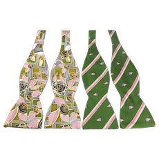 Two Beau Ties Silk Bowties - Hand Made in Vermont Prints