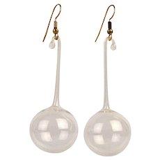 Delicate Dangling Glass BUBBLE Earrings