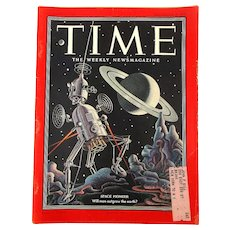 December 8, 1952 TIME Magazine - Space Pioneer Issue Robot Cover 118 Pgs.