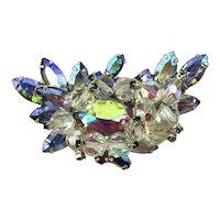 Super Nova Crystal Rhinestone Pin - Aurora Borealis Sparkler