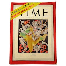 Oct. 1947 TIME Magazine Cover Story INDIA - PAKISTAN - News - Advertising 118 Pages