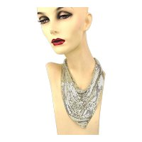 Vintage Whiting & Davis Mesh Necklace - Scarf