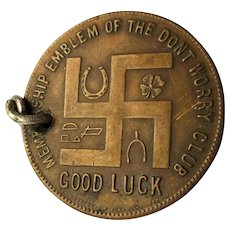 1920s Worcester Salt Good Luck Token Don't Worry Club Salt Bag
