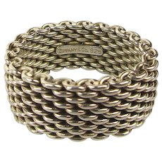 Vintage Tiffany & Co. Mesh Ring Wide Band