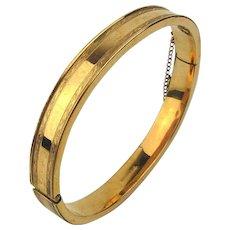 Vintage c1920s Gold-Filled Hinge Bracelet - Etched Edges