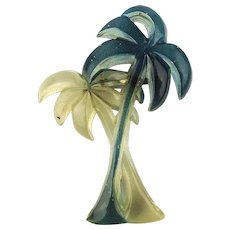 +Vintage Lucite Palm Trees Pin - 2 Colors