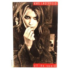 1995 First Edition HC Book - Karl Lagerfeld Off The Record - Stunning Photos Artistic