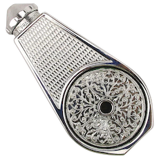 French Chromed Perfume Atomizer Marcel Franck LE WEEKEND Unusual Design