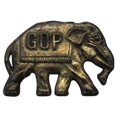 Early 1900s GOP Elephant Lapel Pin Republican