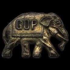 Early 1900s GOP Elephant Lapel Pin Republican