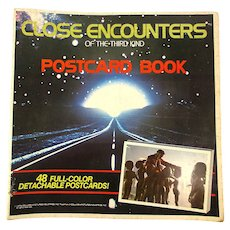 1978 Close Encounters Of The Third Kind Postcard Book Sci Fi Steven Spielberg
