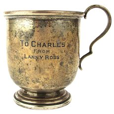 Cartier Sterling Silver Mug Cup From Singer Lanny Ross