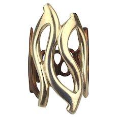 Modernist RLM Studio Ring - Sterling Silver w/ Bronze - Robert Lee Morris