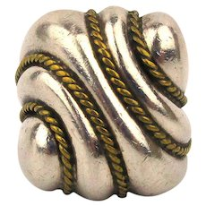 Big Fat Chunky Sterling Silver Mexican Ring