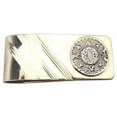 Vintage Taxco Mexican Sterling Silver Money Clip