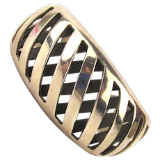Vintage Taxco Mexican Sterling Silver Cuff Bracelet Layers
