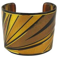Bold Wide Art Laminate Cuff Bracelet by John Crutchfield
