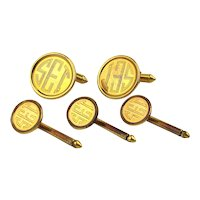 Vintage Gold-Filled Cufflinks Stud Set - SET