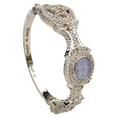 Retired Kirk's Folly ~ Moon Face ~ Jeweled Bracelet MIB