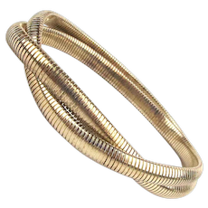 Sterling Silver Joined Double Omega Chain Bracelet