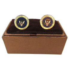 Vintage George H.W. Bush Presidential Seal Cufflinks
