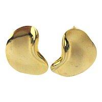 Sleek Modernist Golden Ear Earrings