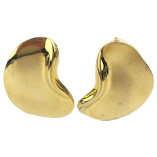Sleek Modernist Golden Ear Earrings