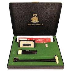 Scottish Grainger & Campbell Bagpipe Practice Set Kit 1970s Unused in Box