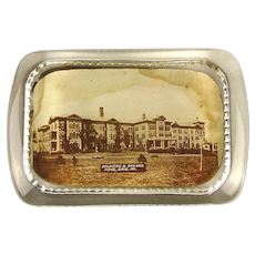 1890s Encased Photo Glass Adv. Paperweight Civil War Soldiers Home Pa.