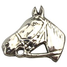 Sterling Silver Horse Head Pin - Big Detailed