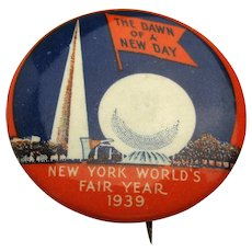 Original 1939-40 New York World's Fair Pin Trylon & Perisphere