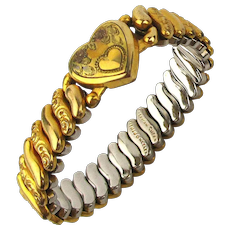 1940s American Queen Sweetheart Expansion Bracelet