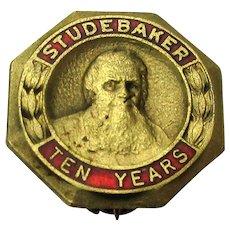 Early 1900s STUDEBAKER Ten Years Employee Service Pin