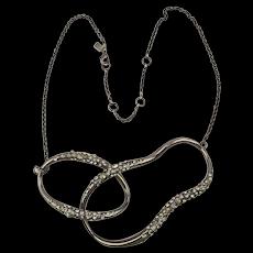 Vintage Alexis Bittar Sweet Enamel Rhinestone Necklace