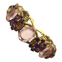 Fabulous 1940s Rhinestone Bracelet w/ Show Biz Experience