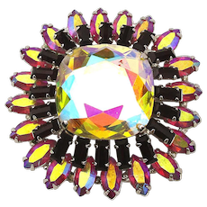 Vendome Aurora Borealis Crystal Rhinestone Pin