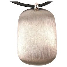 Modernist Erwin Pearl Sterling Silver Pendant Necklace