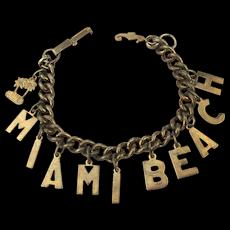 Vintage 1940s MIAMI BEACH Charm Bracelet