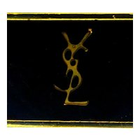 Yves Saint Laurent Enamel YSL Belt Buckle Italy
