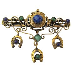 Original by Robert Victorian Style Pin Brooch Jeweled