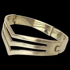 Heavy Taxco 925 Sterling Silver Bracelet