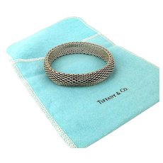 Vintage Tiffany & Co. Sterling Silver Mesh Bracelet