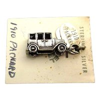 Maisel Sterling Silver 1910 PACKARD Car Charm on Orig. Card c1930s