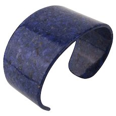 Vintage Melamine Plastic Cuff Bracelet Lapis Blue