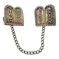 Vintage Jewish Silverplated Torah Talith Tallit Clips Judaica