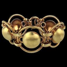 1950s Modernist NAPIER Sterling Silver Link Bracelet