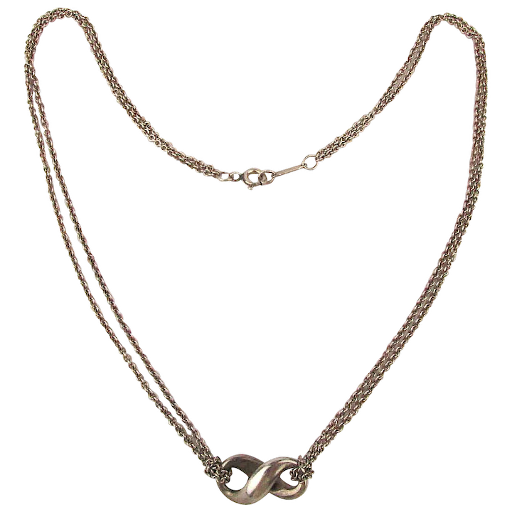 3032c2a06 Tiffany & Co. 925 Sterling Silver Infinity Pendant Necklace :  GreatVintageStuff | Ruby Lane